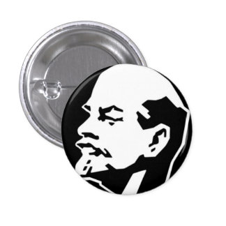 Lenin Badge 1 Inch Round Button