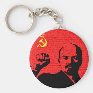 Lenin Basic Round Button Keychain