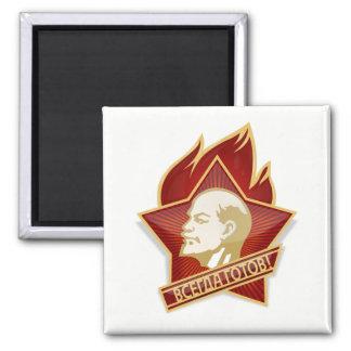 Lenin, Communist Pioneers Pin, Soviet Union Magnet