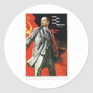 lenin father of soviet union classic round sticker