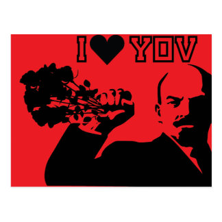 lenin - i love you postcard