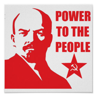 "Lenin ""Power to the People"" Poster"