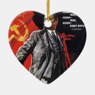 Lenin - Russian Communist Ceramic Ornament