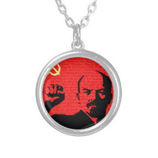 Lenin Silver Plated Necklace