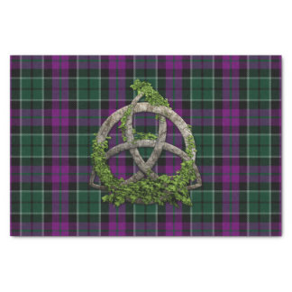 Lennie Tartan And Celtic Trinity Knot Tissue Paper