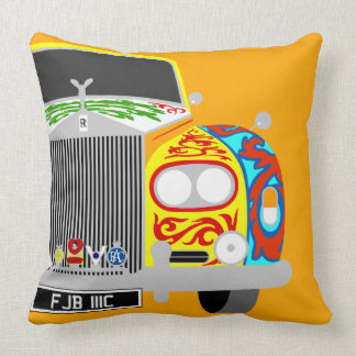 Lennon's psychedelic classic limousine car throw pillow