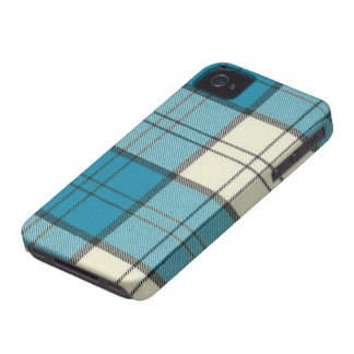 Lennox Dress Turquoise Tartan iPhone 4/4S Case-Mat iPhone 4 Cover