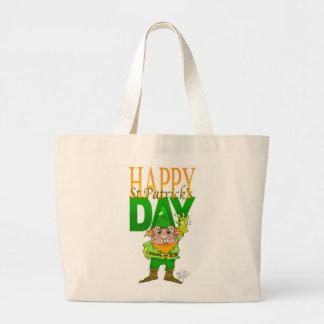 Lenny the Leprechaun illustration, on a tote bag.