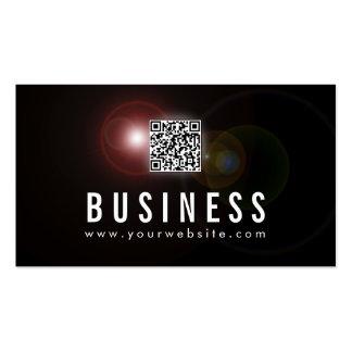 Lens Flare QR Code DJ Music Business Card
