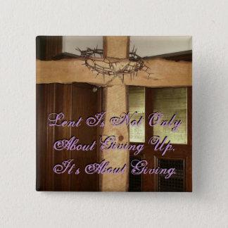 Lent 2 Inch Square Button