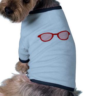 Lentille rouge de rose de jante de lunettes de sol vêtements pour animaux domestiques