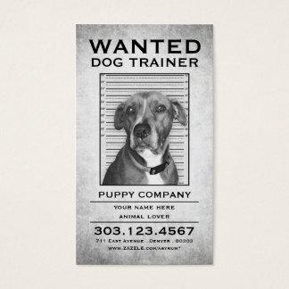 l'entraîneur de chien a voulu l'affiche cartes de visite