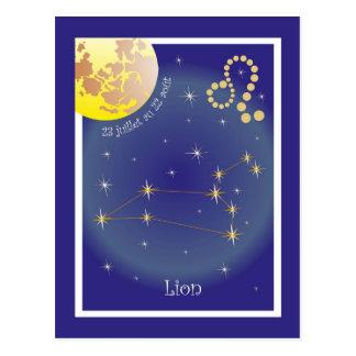 Leo 23 juillet outer 22 août postcard