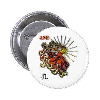 Leo 2 Inch Round Button