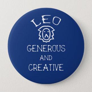 Leo 4 Inch Round Button
