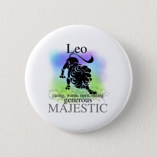 Leo About You 2 Inch Round Button