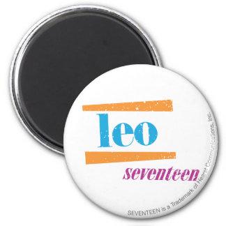 Leo Aqua 2 Inch Round Magnet