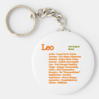 Leo Astrological Match The MUSEUM Zazzle Gifts Basic Round Button Keychain