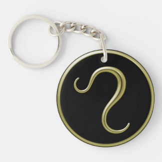 Leo Astrological Symbol Keychain