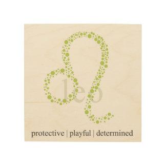 Leo astrology sign printed on wood wood prints