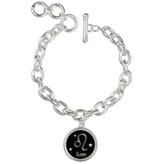 Leo chrome symbol charm bracelet