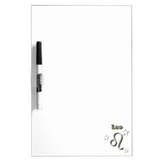 Leo chrome symbol dry erase board