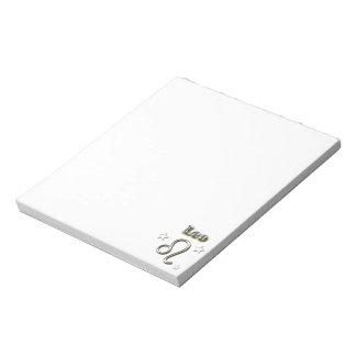 Leo chrome symbol notepad