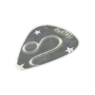 Leo chrome symbol pearl celluloid guitar pick