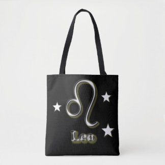 Leo chrome symbol tote bag