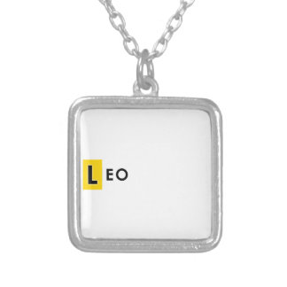 LEO COLOR SILVER PLATED NECKLACE