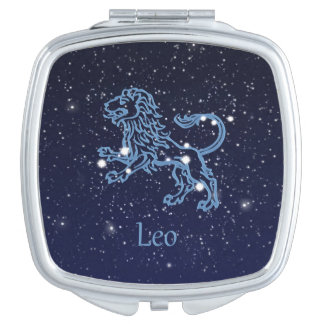 Leo Constellation and Zodiac Sign with Stars Vanity Mirror