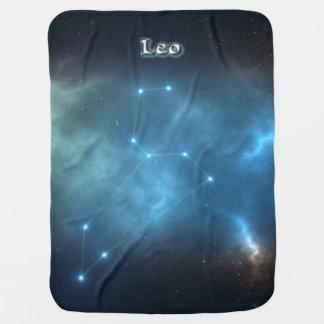 Leo constellation baby blanket