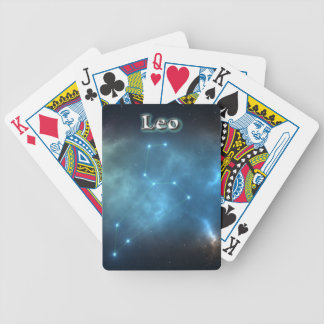 Leo constellation bicycle playing cards