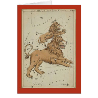 Leo Constellation Card