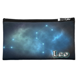 Leo constellation cosmetic bag