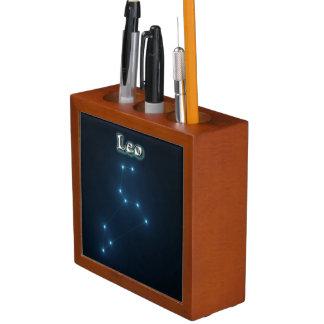 Leo constellation desk organizer