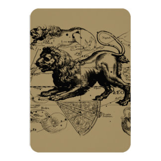Leo Constellation Hevelius 1690 July23 - August 22 Card