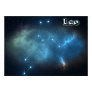 Leo constellation poster