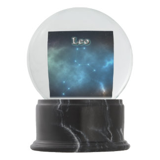 Leo constellation snow globe