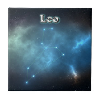 Leo constellation tile