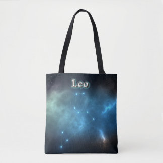 Leo constellation tote bag