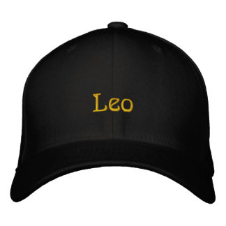 LEO EMBROIDERED HAT