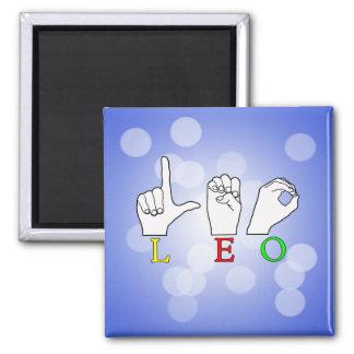 LEO FINGERSPELLED ASL NAME SIGN MAGNET