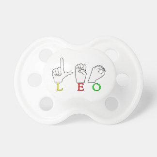 LEO FINGERSPELLED ASL NAME SIGN PACIFIER