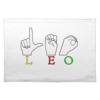 LEO FINGERSPELLED ASL NAME SIGN PLACEMAT