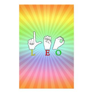 LEO FINGERSPELLED ASL NAME SIGN STATIONERY