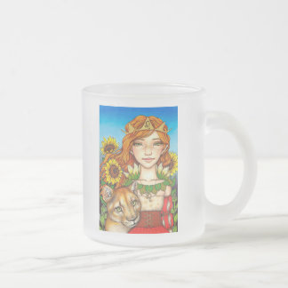 Leo Frosted Glass Coffee Mug