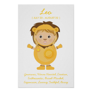 Leo - Girl Horoscope Poster