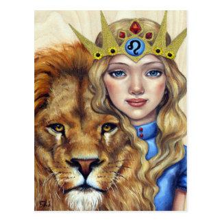 Leo Girl Postcard