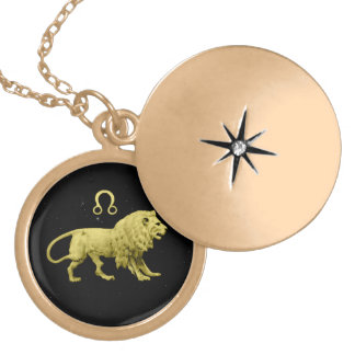 LEO GOLD PLATED NECKLACE